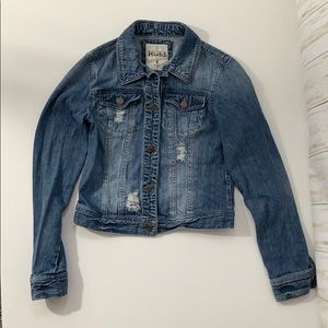 Mudd Light Wash Distressed Denim Jean Jacket